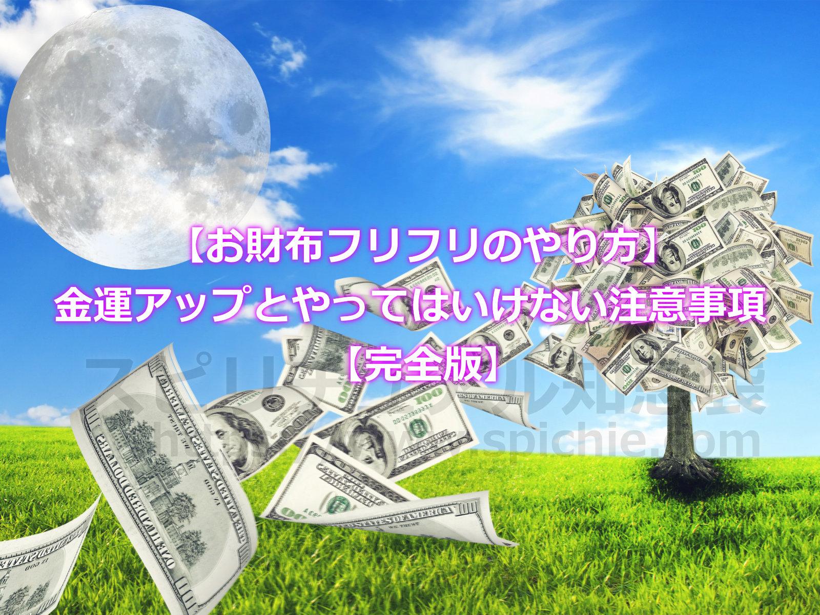 【お財布フリフリのやり方】満月の金運アップとやってはいけない注意事項【完全版】のアイキャッチ画像