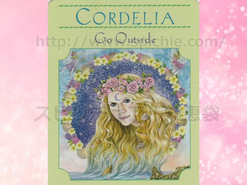 左のカードを選んだあなたへのメッセージ CORDELIA Go Outside コーデリア 外に出ましょう のカード画像