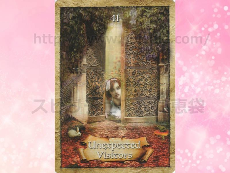 左のカードを選んだあなたへのメッセージ unexpected visitors 予期せぬ訪問者 のカード画像