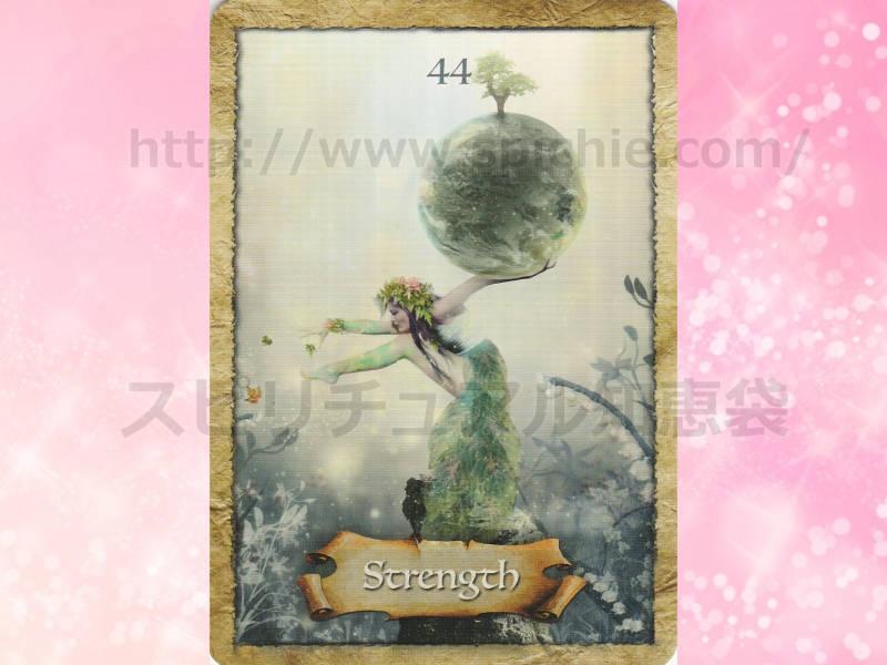 右のカードを選んだあなたへのメッセージ strength 力 のカード画像