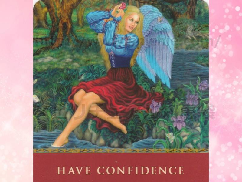 左のカードを選んだあなたへのメッセージ have confidence 自信を持ちましょう! のカード画像