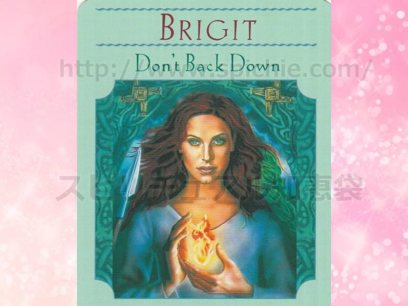 左のカードを選んだあなたへのメッセージ don't back down 諦めない のカード画像
