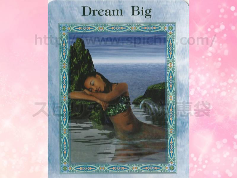 左のカードを選んだあなたへのメッセージ dream big 大きな夢 のカード画像