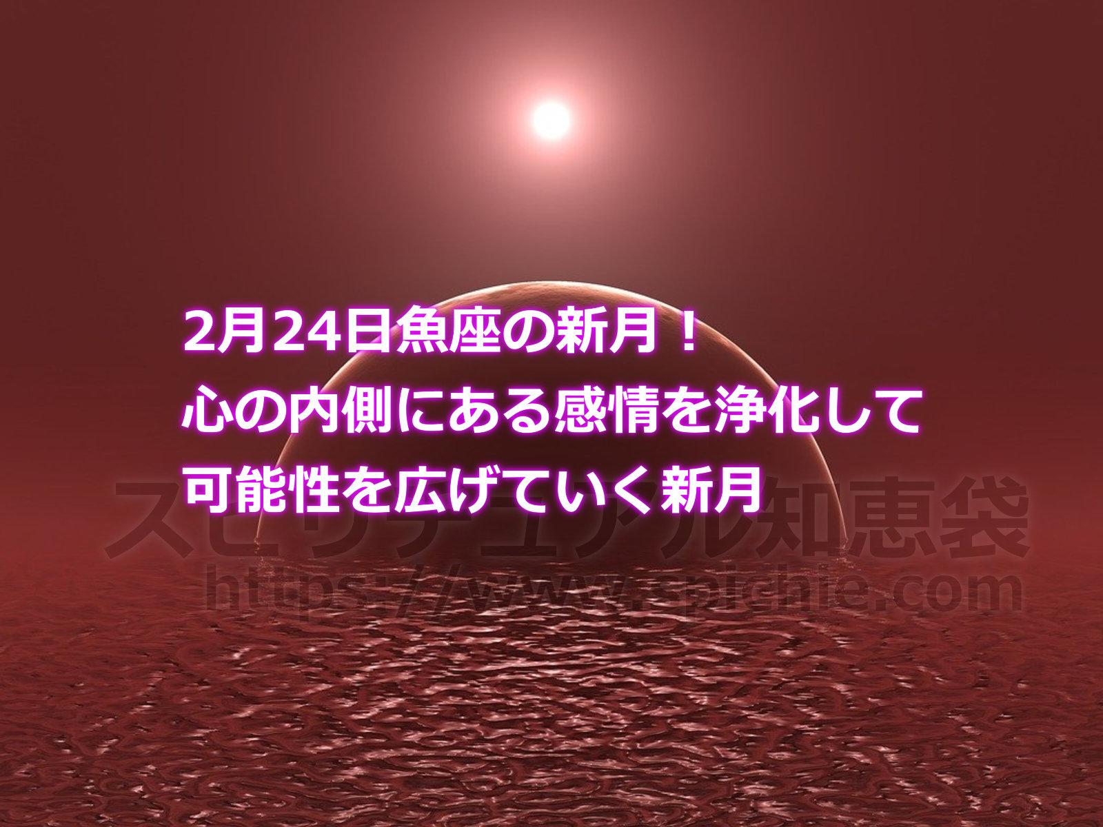2月24日魚座の新月!心の内側にある感情を浄化して可能性を広げていく新月のアイキャッチ画像